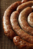 Homemade pork sausage, spiral baked Royalty Free Stock Photos