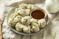 Homemade Pork Shu Mai Dumplings stock photo