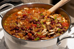 Homemade Pot Of Chilli Royalty Free Stock Photo