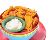 Homemade potato chip Royalty Free Stock Photos