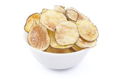 Homemade Potato chips bowl Royalty Free Stock Photo