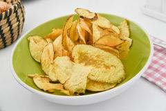 Potato chips homemade Royalty Free Stock Photo
