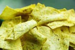 Homemade potato chips, close up. homemade food stock photography