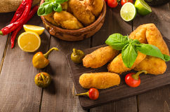 Homemade potato croquettes Stock Images