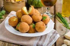 Homemade potato croquettes Stock Photo