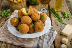 Homemade potato croquettes Stock Photos