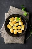 Homemade Potato Gnocchi. Flat lay. stock photography