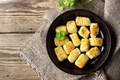 Homemade Potato Gnocchi. royalty free stock image