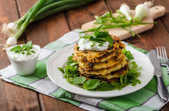 Homemade potato pancakes Stock Photos
