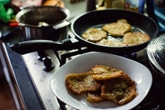Homemade potato pancakes Royalty Free Stock Images
