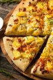Homemade Potato Rosemary Pizza Royalty Free Stock Photos