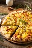 Homemade Potato Rosemary Pizza Stock Images