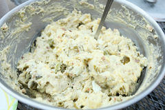 Homemade potato salad Stock Photos