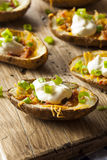 Homemade Potato Skins with Bacon Stock Photography