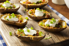 Homemade Potato Skins with Bacon Royalty Free Stock Photo