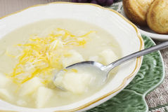 Homemade Potato Soup Stock Photography