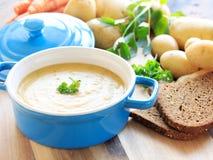 Homemade potato soup Royalty Free Stock Photo