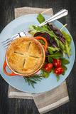 Homemade potpie meal with salad Royalty Free Stock Photography
