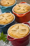 Homemade potpies Stock Photo