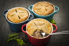 Homemade potpies Royalty Free Stock Photos