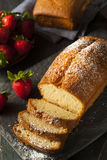 Homemade Pound Cake with Strawberries Royalty Free Stock Images