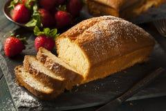 Free Homemade Pound Cake With Strawberries Stock Photos - 42593643