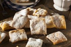 Homemade Powder Sugar Beignets Stock Images