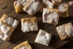 Homemade Powder Sugar Beignets Royalty Free Stock Photos