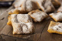 Homemade Powder Sugar Beignets Royalty Free Stock Photo