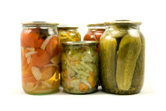 Homemade preserved vegetables Royalty Free Stock Photography