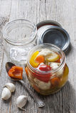 Homemade preserved vegetables Royalty Free Stock Images