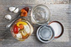 Homemade preserved vegetables Stock Image