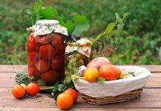 Homemade preserves stock photography