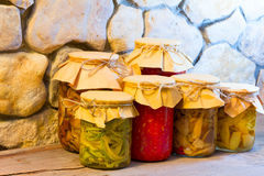 Homemade preserves Royalty Free Stock Photo