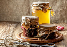 Homemade preserves for the winter. Royalty Free Stock Photo