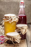 Homemade preserves for the winter. Stock Photos
