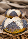 Homemade Pretzel Roll (with Poppyseed) Stock Images