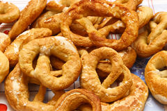 Homemade Pretzels with Salt Stock Images