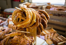 Homemade pretzels Stock Images