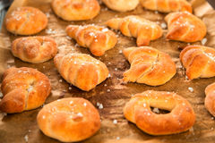 Homemade pretzels Stock Images