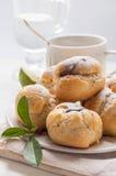 Homemade profiteroles with chocolate cream Stock Photos