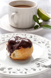Homemade profiteroles with chocolate cream Stock Photography