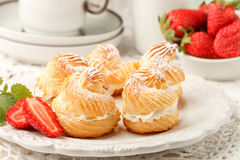 Homemade profiteroles Royalty Free Stock Images