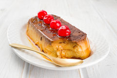 Homemade pudding decorated Royalty Free Stock Photo