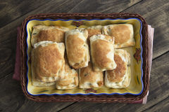 Homemade puff pastry Royalty Free Stock Photo