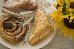 Homemade puff pastry buns Stock Photography
