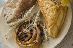 Homemade puff pastry buns Stock Images