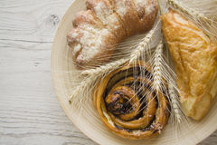 Homemade puff pastry buns Royalty Free Stock Photos