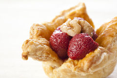 Homemade puff pastry cakes Royalty Free Stock Image