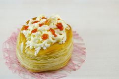 Homemade puff pastry with cheese Royalty Free Stock Images